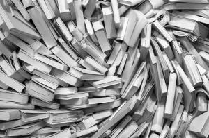 books chaos b&w